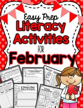 Literacy Activities for February (Easy Prep)