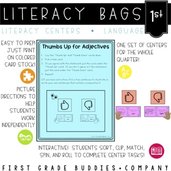 Literacy Bags for 1st Grade: Language Skills {10 Literacy
