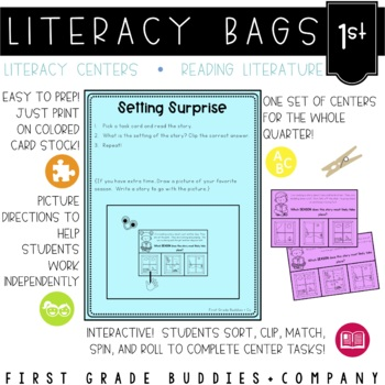 Literacy Bags for 1st Grade: Reading Literature {10 Litera