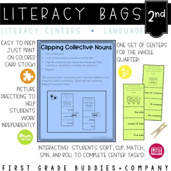 Literacy Bags for 2nd Grade: Language Skills {10 Literacy