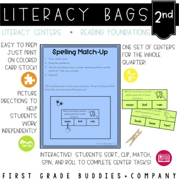Literacy Bags for 2nd Grade: Reading Foundational Skills {