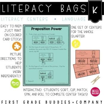 Literacy Bags for Kindergarten: Language {10 Literacy Centers}