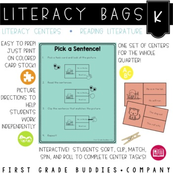 Literacy Bags for Kindergarten: Reading Literature {10 Lit