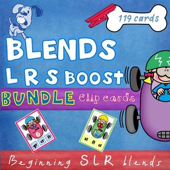 Beginning  Blends L R S clip cards - Bundle