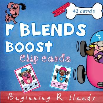 Beginning Blends R clip cards