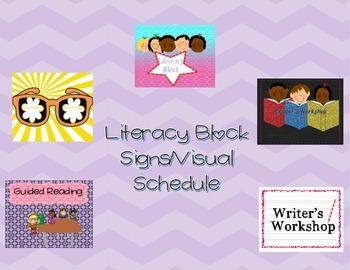 Literacy Block Visual Schedule