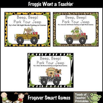 Literacy Center -- Beep, Beep! Park Your Jeep Bundle ( Fir