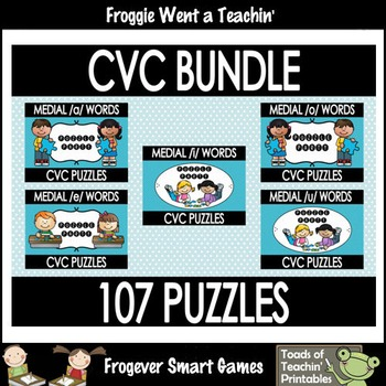 "CVC Word Puzzles bundle--107 Puzzles ""Puzzle Party"""