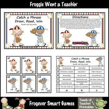 Literacy Center -- Catch a Phrase Draw, Read, Win Set IV