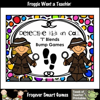 "Literacy Center--Detective Kids on Call ""l"" Blends Bump Games"