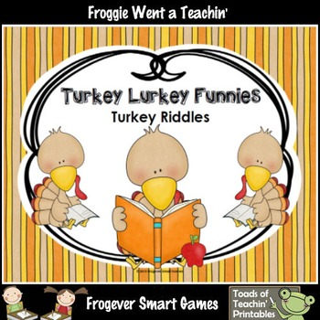 Literacy Center--FREE Turkey Lurkey Riddles