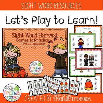 Literacy Center Games -Fall Themed Sight Words