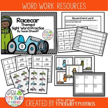 Literacy Center Games -Racecar themed Mega-pack- Dolch Sig
