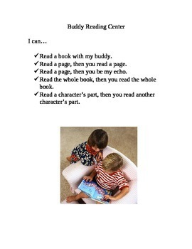 Literacy Center I Can...Statements