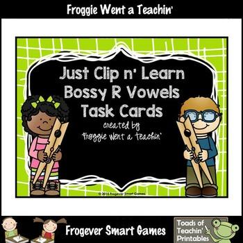 Bossy R Vowels--Just Clip n' Learn Bossy R Vowels/Bonus Bo