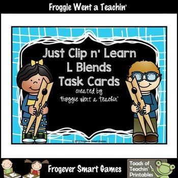 Literacy Center--Just Clip n' Learn L Blends/Bonus L Blend