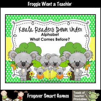 Alphabet--Koala Readers Down Under (Alphabet/What Comes Before?)
