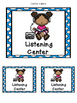 Literacy Center Labels and Activities-Freebie!