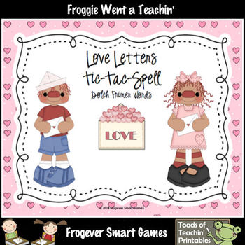 Valentine's Day-Love Letters Tic-Tac-Read and Tic-Tac-Spel