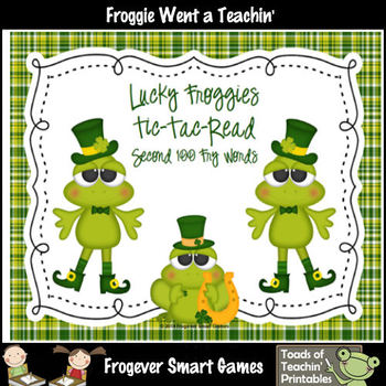 St.Patrick's Day--Lucky Froggies Tic-Tac-Read Second 100 F