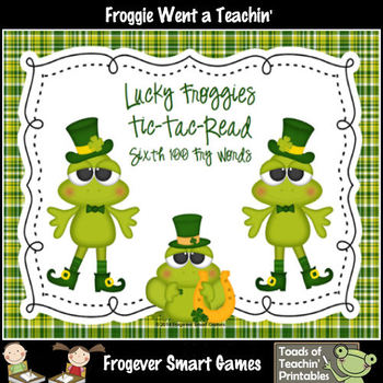 St.Patrick's Day--Lucky Froggies Tic-Tac-Read Sixth 100  F
