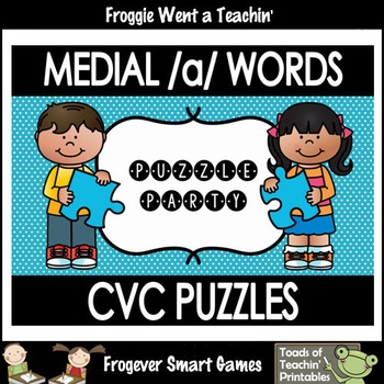 "CVC Word Puzzles--Medial /a/ Words ""Puzzle Party"""