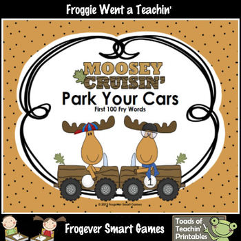 Literacy Center--Moosey Crusin' Park Your Cars (First 100