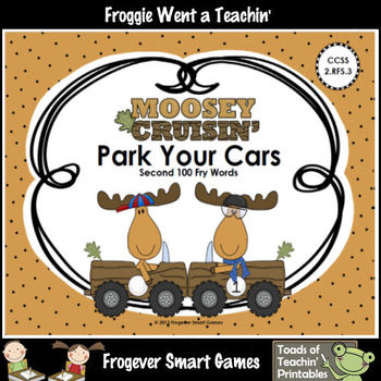 Literacy Center--Moosey Crusin' Park Your Cars (Second 100