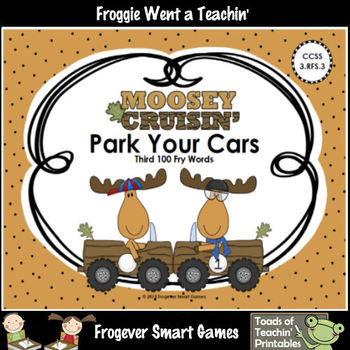 Literacy Center--Moosey Crusin' Park Your Cars (Third 100