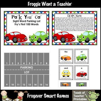 Fry Sight Words--Park Your Car Sight Word Parking Lot (Fir