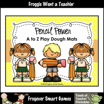 Play Dough Alphabet--Pencil Power A to Z Play Dough Mats