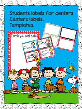 Literacy Center, Pocket Chart Labels & Center Labels
