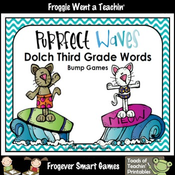 Literacy Center--Purrfect Waves Dolch Third Grade Words Bu