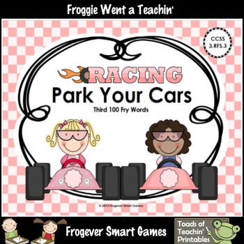 Literacy Center--Racing Readers Park Your Cars (Third 100