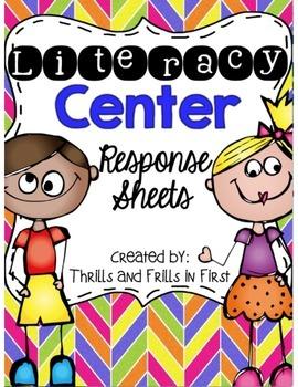 Literacy Center Response Sheets