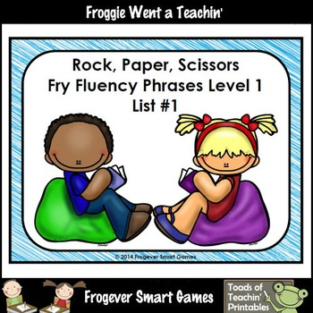 Literacy Center-Rock Paper Scissors Fry Fluency Phrases Fr