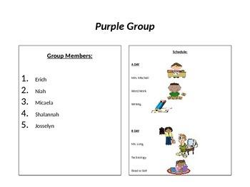 Literacy Center Schedule/Rotation