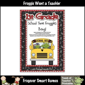 Literacy Center--School Time Froggies (First Grade Words)