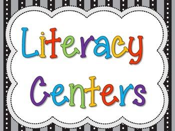 Literacy Center Sign