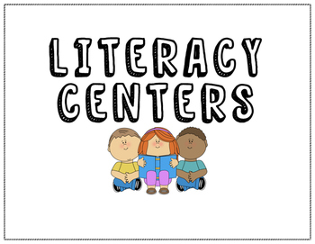 Literacy Center Signs or Rotation Chart