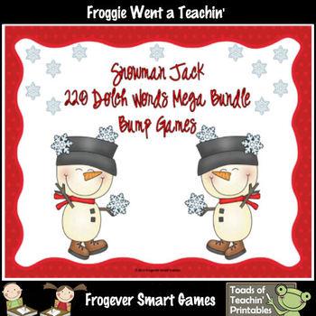 Literacy Center--Snowman Jack 220 Dolch Words Mega Bundle