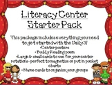 Literacy Center Starter Pack- Hollywood Theme
