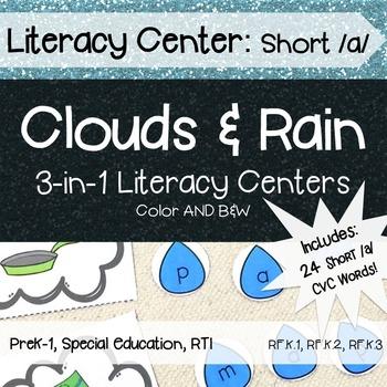 Literacy Center: Weather Short /a/ CVC Rhyming, Word Famil