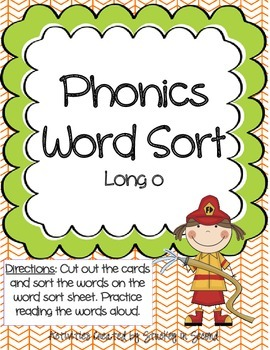 Literacy Centers 3-3 (Long o Phonics, Verbs, Past/Future T