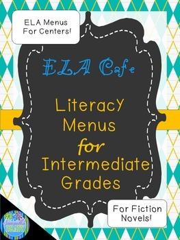 Literacy Centers CAFE Fiction Menus For Intermediate Grades