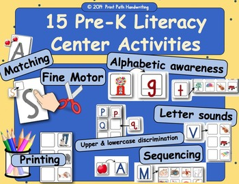Literacy Centers: Making Capital Letters with Lines & Curv