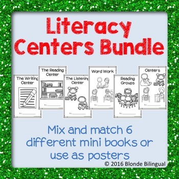 Literacy Centers Mini Books Bundle
