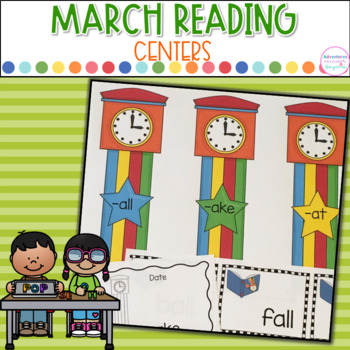 Literacy Centers- March Into Reading