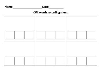 Literacy Centers Recording Sheets