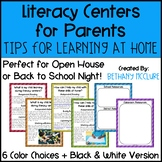 Literacy Centers for Parents Tips & Tricks for Learning at Home